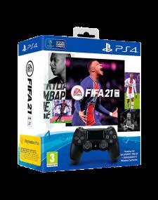 שלט DUALSHOCK PS4 ומשחק FIFA 2021