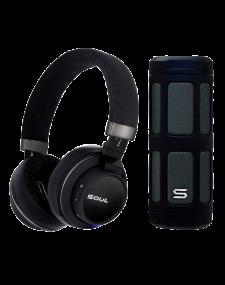 ערכת סאונד מהודרת הכוללת אוזניית transform+ רמקול אלחוטי wavepower