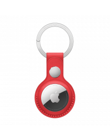 Apple Air Tag מחזיק מפתחות מעור בצבע אדום