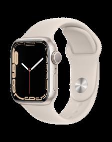 Apple Watch Series 7 eSIM 41mm שעון חכם אפל בצבע לבן