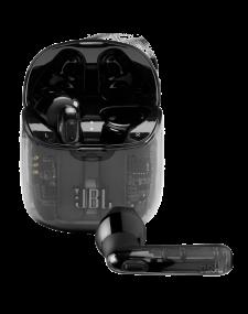 אוזניות אלחוטיות בצבע שחור שקוף JBL TUNE 225 TWS