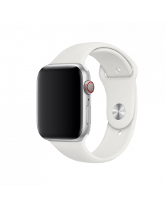 רצועת סיליקון מקורית מבית Apple  בצבע לבן ל -Apple Watch 44mm
